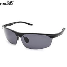 MILU Luxury Brand Logo Sunglasses For Men Aluminum Polarized Outdoor Sport Fishing Aviator Glasses Men oculos masculino S2398