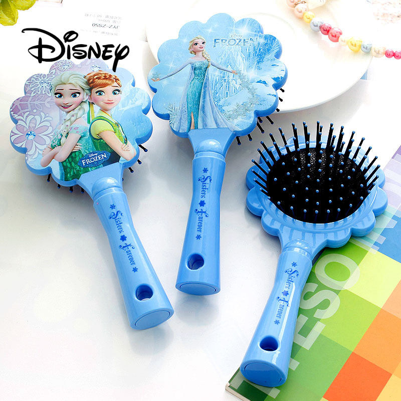 Disney Pretend Play Frozen Beauty Salons Toys Anti-static Air Cushion Hair Brush Styling Toys Massage Combs For Women Girls Hair