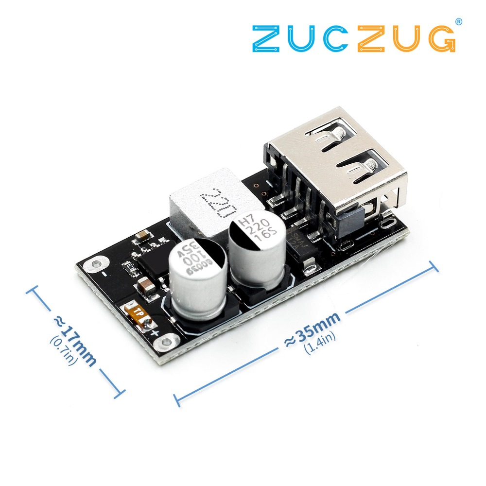 QC3.0 QC2.0 USB DC-DC Buck Converter Charging Step Down Module 6-32V 9V 12V 24V To Fast Quick Charger Circuit Board 3V 5V 12V