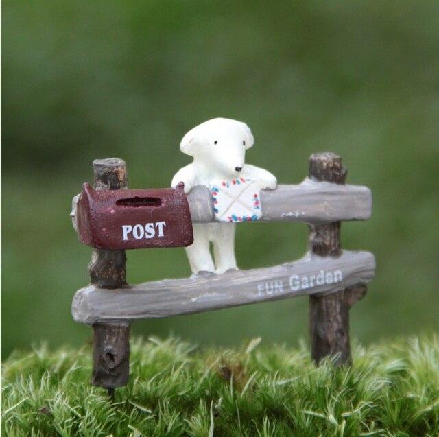 Mini Harz Zaun Mit Hund Und Postfach Fee Garten Diy Material Bonsai