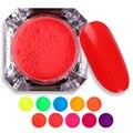 1 Caja de Polvo de Fósforo Pigmento de Neón 2g Manicura Nail Art Decoration Glitter Powder