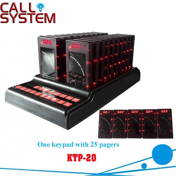 Ресторан Беспроводной Вибрационный алфавитно цифровой Пейджинг Системы coaster пейджер (1 передатчик 25 пейджеры)
