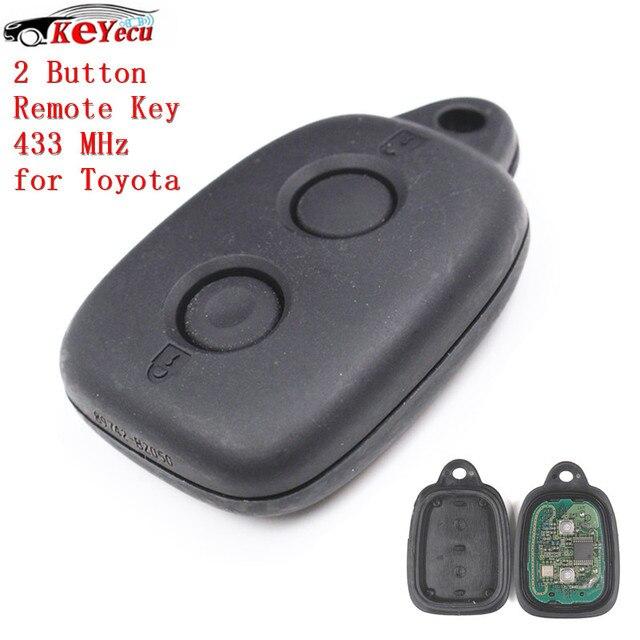 Keyecu 2 Button High Quality Replacement Remote Control Key Fob