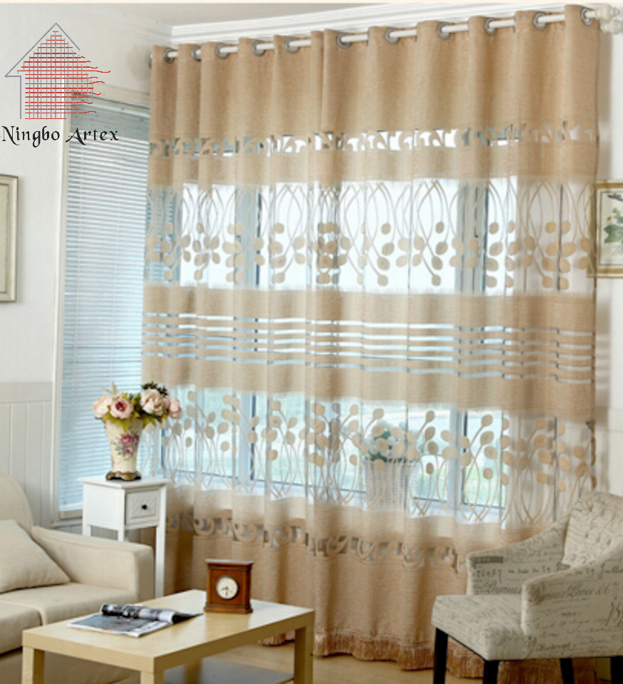 2018 Summer New Voile Curtains For Living Room Pleated White Blue