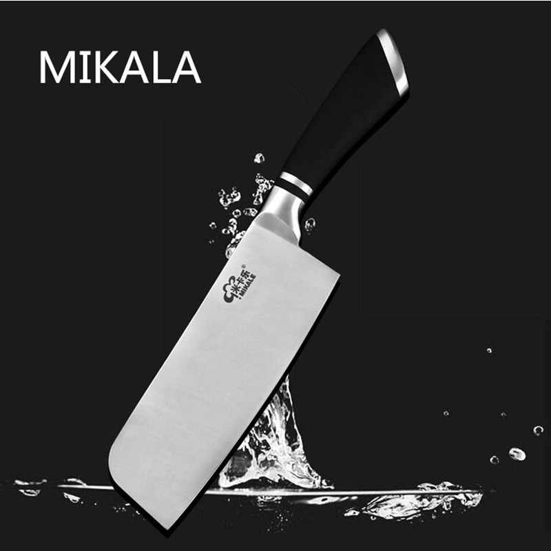 Free Shipping MIKALA Western Style Stainless Steel Cleaver Kitchen Multi-use Meat Slicing Knives Cutting Fruit Vegetable Knife