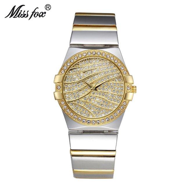 2019 Hot Sales Top Quality Luxury Watches Silver Gold Women Rhinestone Crystal Quartz Watches Lady Bracelate Dress Wristwatches