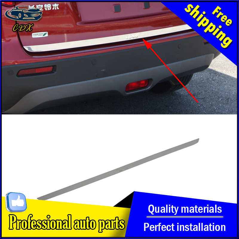 Car Styling Stainless Steel Car Modified Dedicated Tailgate Door Trim Chrome Cover Protection For Suzuki Vitra 2016