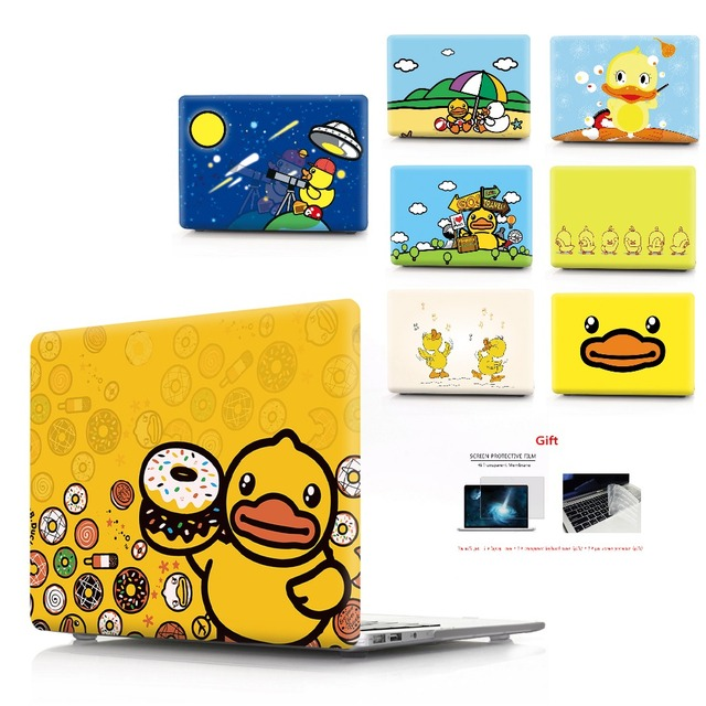 duck color printing notebook case for Macbook Air 11 13 Pro Retina 12 13 15 inch Colors With Touch Bar New Air 13 Pro 13 15