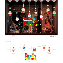 Window Glass Spiegel Sticker Merry Christmas Santa Claus Snow Paper Wall for Xmas Decals bathroom mirror sticker roll