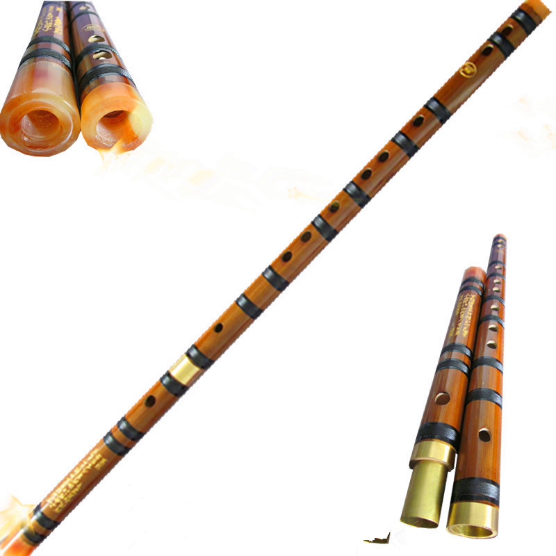 Flauta de bambú Dizi Flauta de concierto de dos secciones C D E F G Flauta transversal Flauta Instrumentos musicales profesionales Flauta de bambú