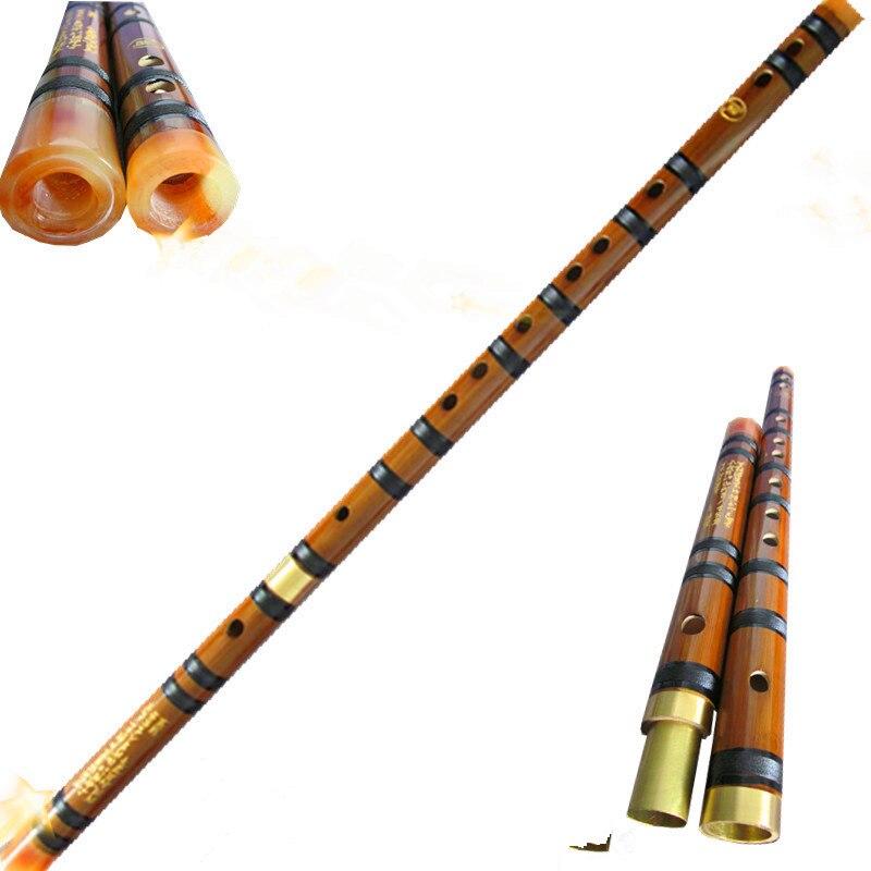 Flauta de bambú Dizi Dos Sección Concierto Profissional Flauta Cdefg Flauta Trav