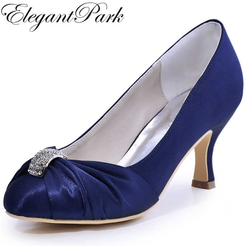 Shoes Woman Navy Blue Wedding Bridal High Heel Closed Toe Rhinestone Satin Lady Bride Bridesmaid Dress Prom Pumps BurgundyHC1526 beautiful fashion blue wedding shoes for woman rhinestone bridal dress shoes lady high heel luxurious party prom shoes