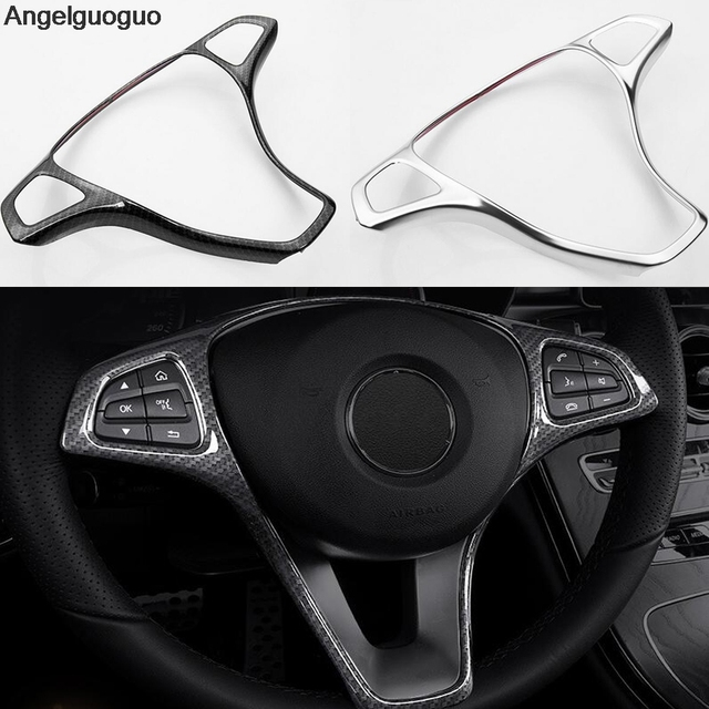 Car Steering Wheel Button Trim Frame Car Accessories For Mercedes Benz E  Class W213 C Class