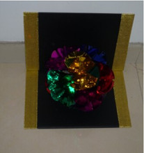 Flower From Board,Flower Plate Appearing Magic Tricks Gimmick Stage Magic Illusion Props Magia De Escenario Profesional(China)