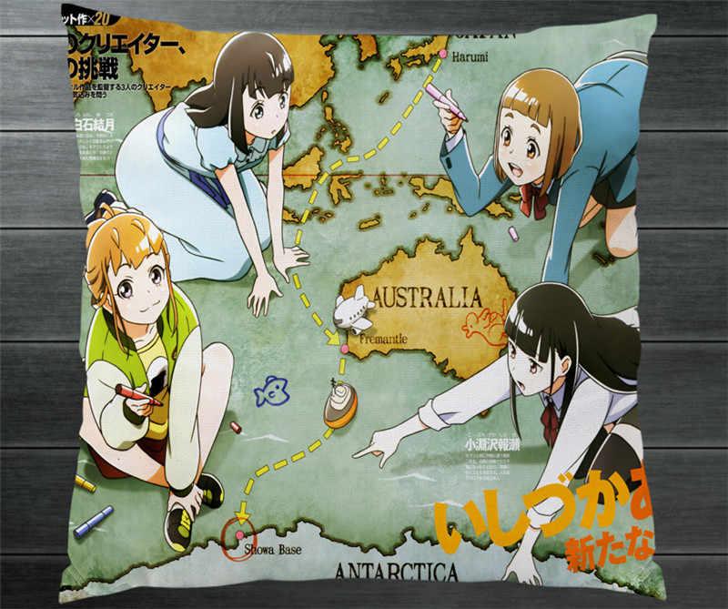 Anime un endroit plus loin que l'univers deux taies d'oreiller latérales housse de taie d'oreiller Shirase Kobuchizawa Mari Tamaki Cosplay cadeau P1