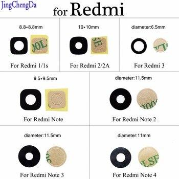 JCD задняя камера стеклянная крышка объектива для Xiaomi для Redmi 1 / 1s 2/2A 3 Note 1 2 3 4 ЗАМЕНА Запасные части для ремонта