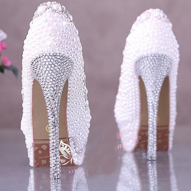d6165d8c41a0 Ecru White color Pearl Bridal Wedding Shoes