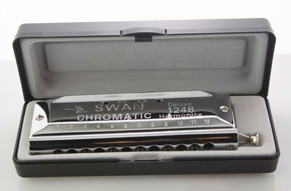 Chromatic Harmonica 12 Holes 48 Tone Gaitas Harmonicas Circular Arc Blow Hole Mouth Ogan Silver reed Chromatic Harmonica 12