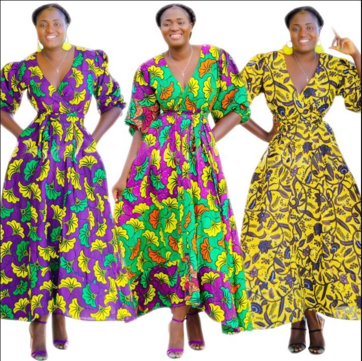 2019 elegent sexy fashion style african women dress