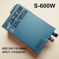 Switching Power Supply 12V 50A 600W 110 230VAC Single Output Input For Cnc Cctv Led Light