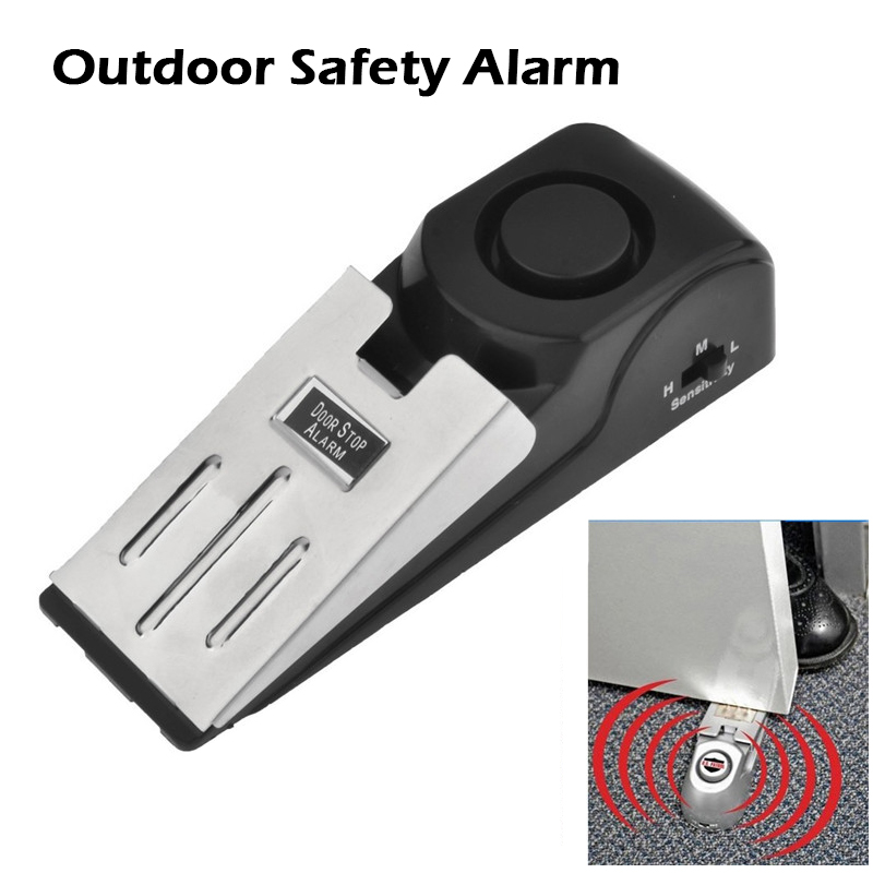 Home Security 100 DB Anti-theft Burglar Stop System Security Home Wedge Shaped Door Stop Stopper Alarm Block Blocking System