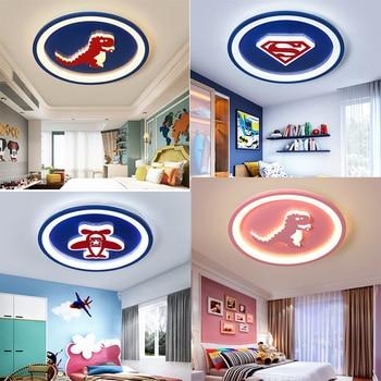 Светодиодные потолочные светильники для детей детской светильник teto акрил lamparas de teco дети мультфильм потолочный светильник