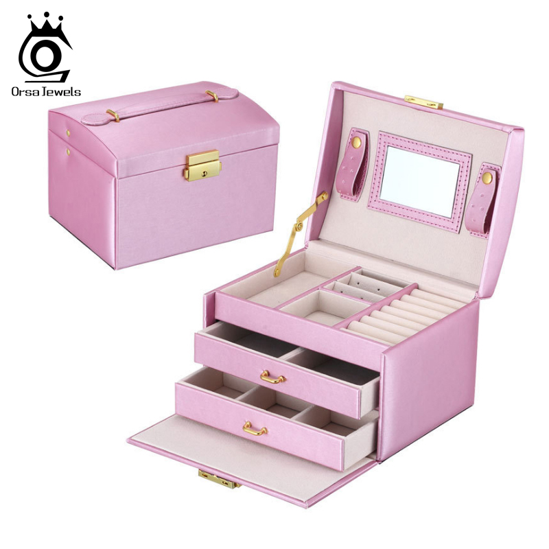 Jewelry Package Earrings Ring Necklace Bracelet Jewelry Carrying Case Box SO01