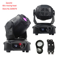2pcs Per Lot Steady Quality Professional Gobos 60W Spot Moving Head Led Stage Light DJ Disco