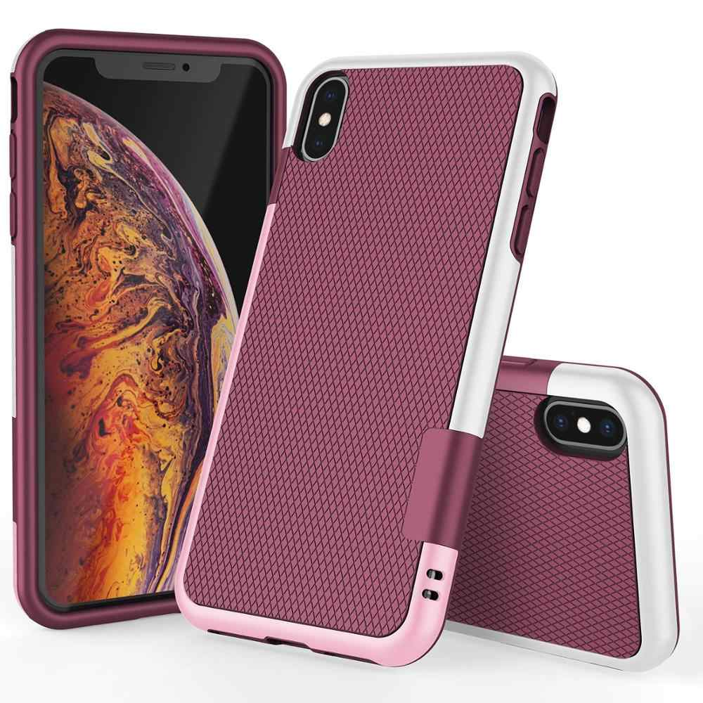 Dual Layer Anti Shock Anti Impact PC TPU Silicone Rubber Case voor iPhone 11 Pro XS Max XR 10 8 7 6s Plus Shockproof Tough Cover