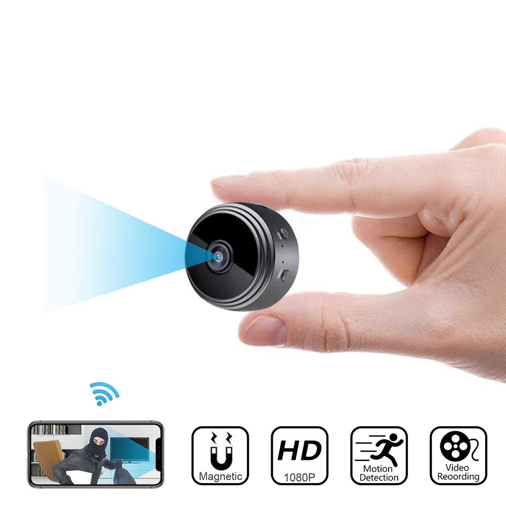 Micro WIFI Mini Camera HD 1080P With Smartphone App And Night Vision For Bike With Magnetic Clip