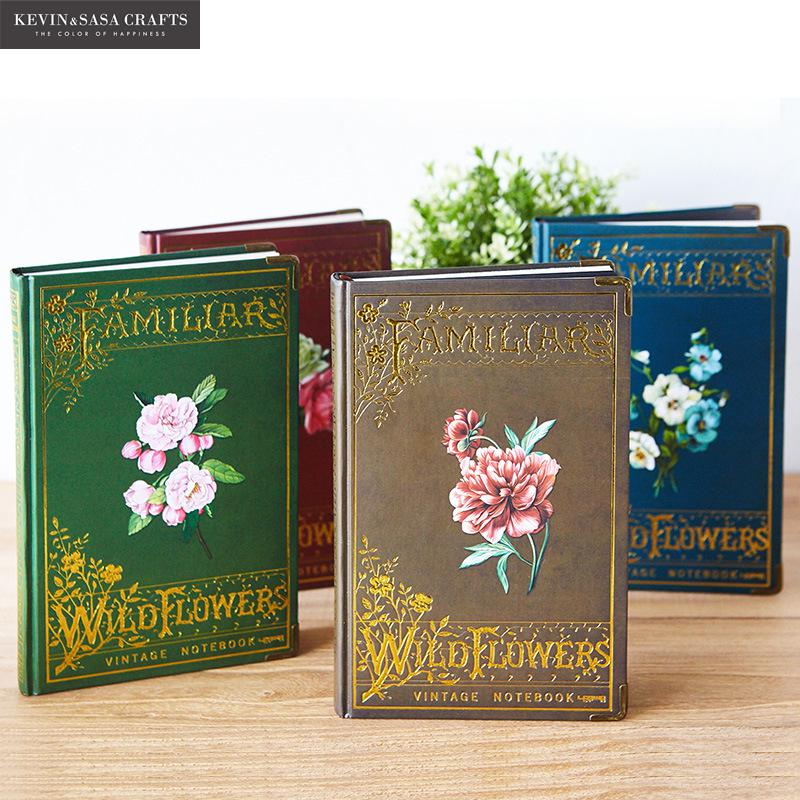 Flower Notebook Luxury 144 Sheets Vintage Planner Sketchbook Diary Note Book Office Journal Stationery School Supplies Students sosw fashion anime theme death note cosplay notebook new school large writing journal 20 5cm 14 5cm