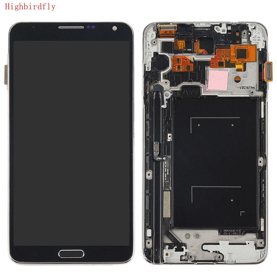 Highbirdfly для Samsung Note 3 N9005 Note3 n900 n9000 ЖК-экран Дисплей + Touch Стекло планшета каркасные TFT можно настроить