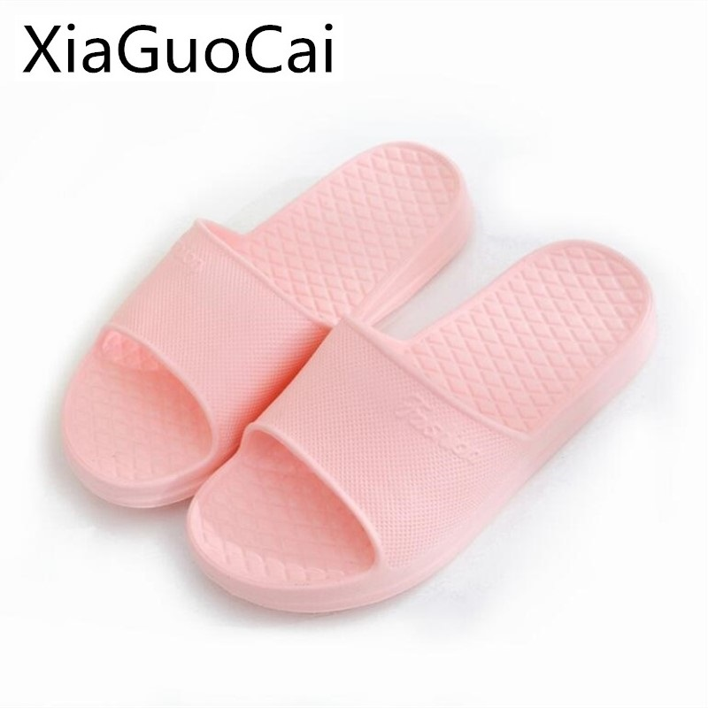 Pink Woman Slippers Flat with Antiskid Slide for Women Indoor and Outdoor Female Slides Beach Footwear