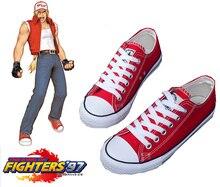 Envío Gratis King of Fighters Fatal Fury Terry Bogard Deportes Zapatos de Anime Cosplay Accesorios