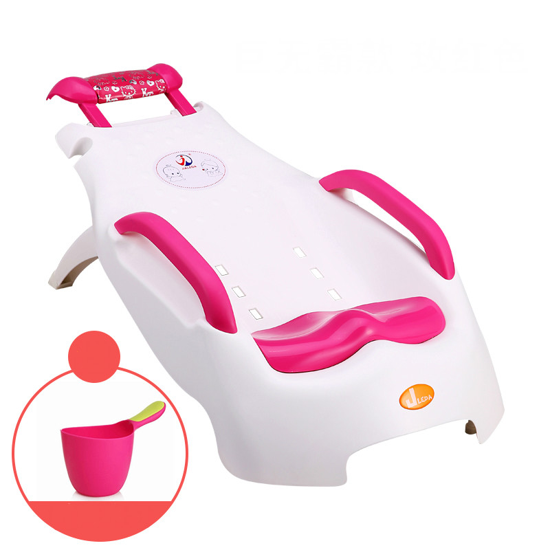 Children Shampoo Chair Extra Large Foldable Adjustable Baby Shampoo Chair Infant Shampoo Lounger
