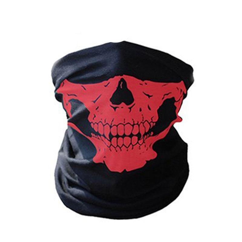 1 шт. для женщин мужчин велосипед Мотоцикл Череп Бандана Шарф средства ухода за кожей шеи маска-шлем для лица - Цвет: red