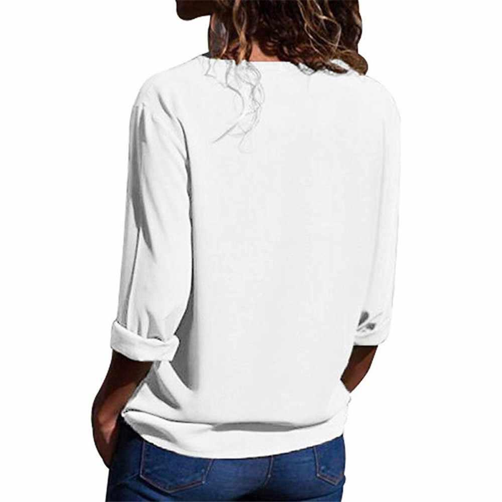 Женские блузки, однотонные рубашки с длинными рукавами для девочек, модная шифоновая Однотонная рубашка, Офисная Женская однотонная блузка с отворотным рукавом, топы
