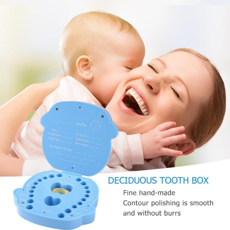 Baby Souvenirs Teeth Box Infant Plastic Deciduous Tooth Box Souvenir Creative Kids Tooth Organizer Boxes Children Care Accessory