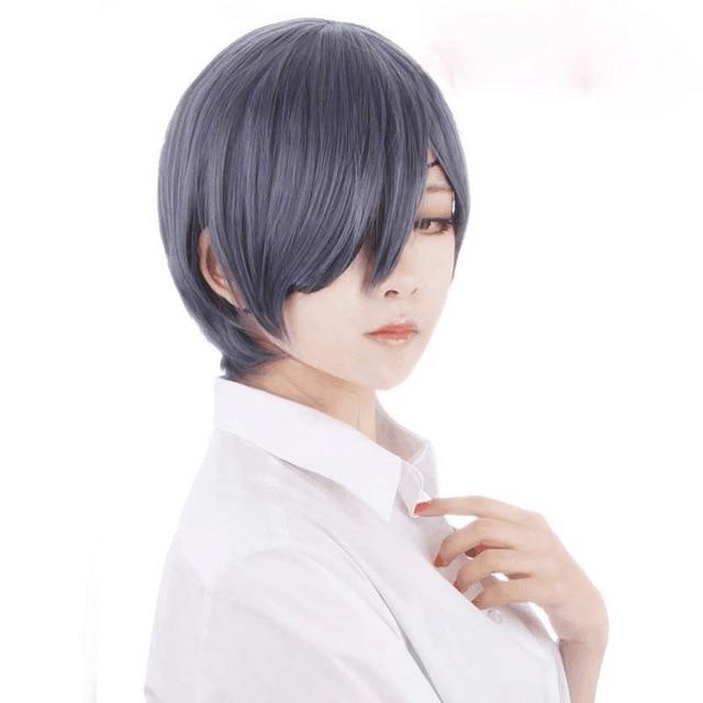 Morematch Anime Black Butler Kuroshitsuji Ciel Phantomhive Wigs Grey Blue Heat Resistant Synthetic Hair Cosplay Wig
