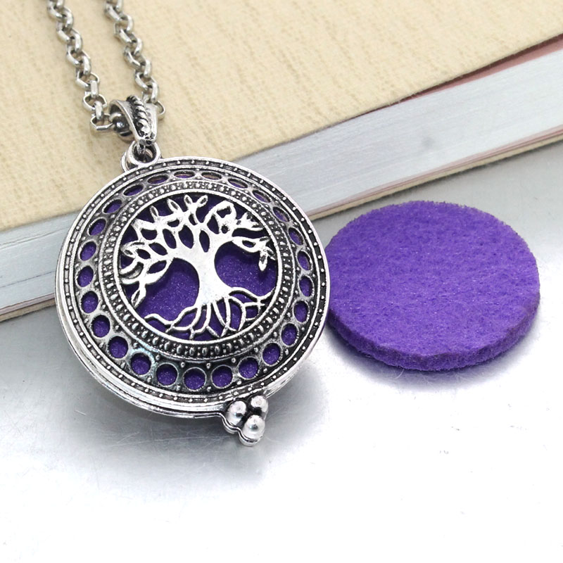 1pcs Aroma Diffuser Necklace Open Antique Vintage Lockets Pendant Perfume Essential Oil Aromatherapy Locket Necklace With Pads ...