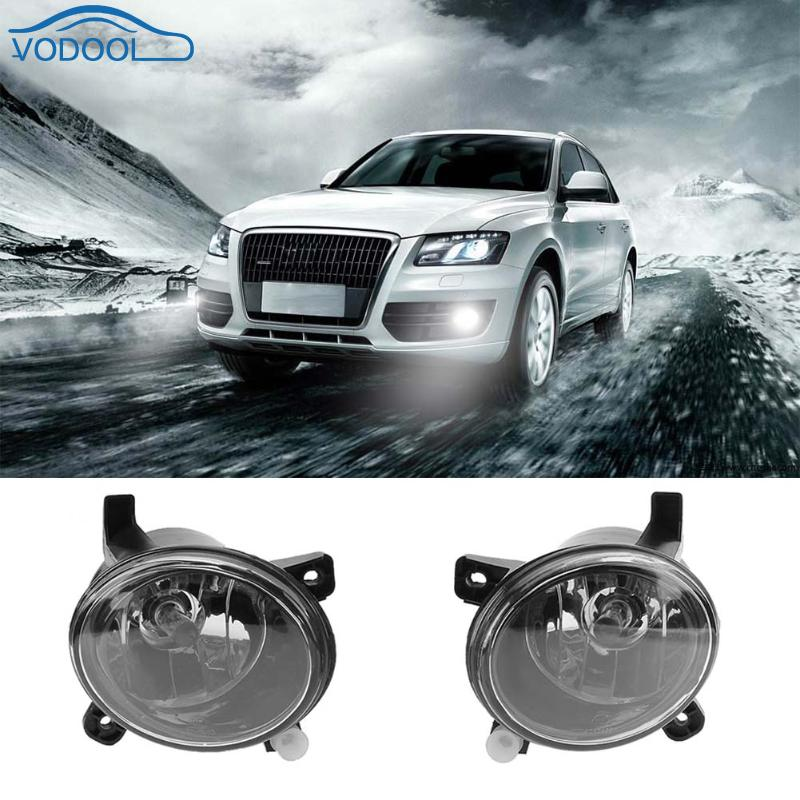 1Pair Automobile Halogen Front Bumper Lamps Driving Fog Lights Car Light Assembly for Audi A4 B8 Q5 2008-2012 Car-styling for mercedes benz w163 ml320 ml350 ml500 ml400 1998 2005 car styling front bumper fog lights halogen fog lamp