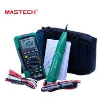 MASTECH MS8236 Auto Range Multímetro Digital LAN Probador de Red de línea Telefónica Cable Tracker Tono Comprobar Sin contacto Detector De Voltaje