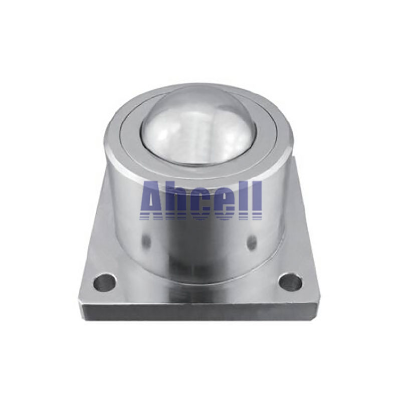 Ahcell SD-38 Heavy Duty flange mount Ball transfer unit SD38 ball roller conveyor bearing wheel solid machined steel ball caster stainless steel idler heavy duty gravity roller rubberized conveyor roller pallet conveying pulley