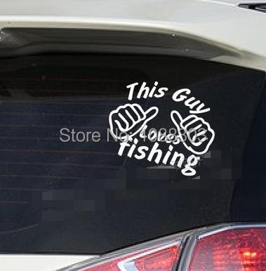 Wholesale fishing car styling cool window sticker this guy loves fishing decorative car sticker viny decal