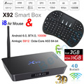 X92 Android 6.0 TV Box 3G 16G 32GB / 2GB 16GB Amlogic S912 Octa Core 4K 3D Smart Media Player KODI Bluetooth Wifi Mini PC Hebrew