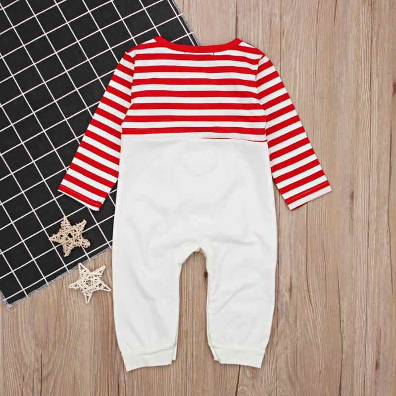 22ab5a424d5 ... New Year Boys Suit Clothes Cute Elk Stripe Christmas Rompers O-Neck  Jumpsuit for Baby ...