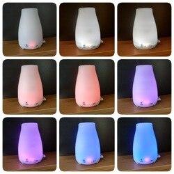 Humidificador ultrasónico difusor de aceite de aromaterapia niebla fría con luces LED de Color difusor de aceite esencial sin agua apagado automático