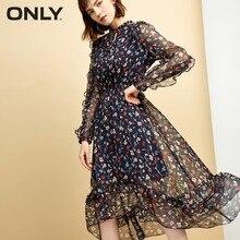 ONLY Women's Ruffled Elasticized Waist Dress|118307585 цены