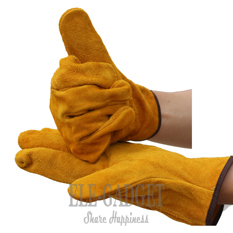 New Cow Leather Welder Gloves Anti-Heat Fireproof <font><b>Work</b></font> Safety Gloves For Welding Carrying Builder Hands Protection