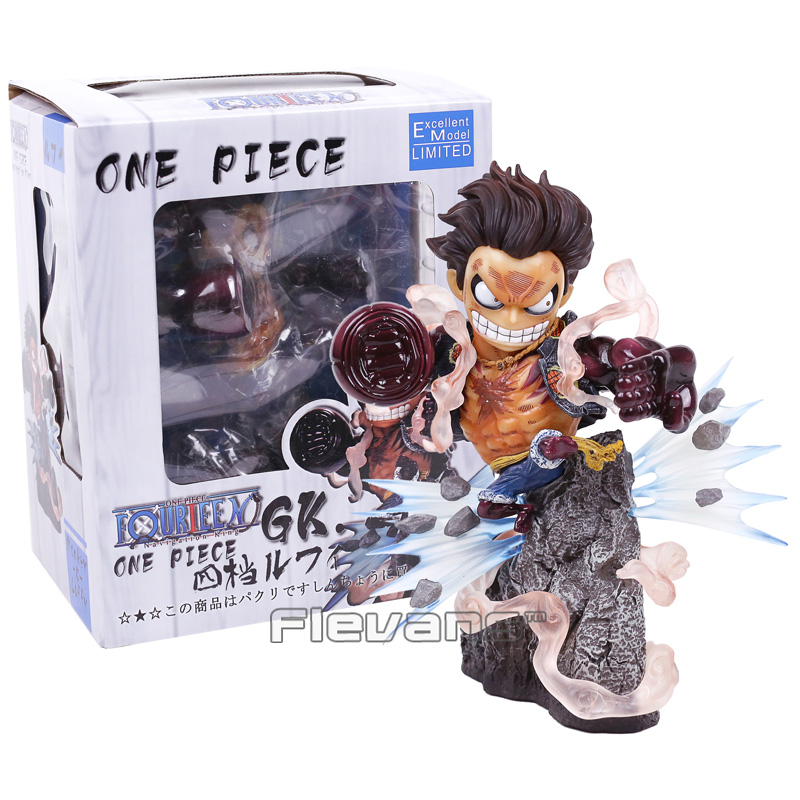 Anime One Piece Gear Fourth Monkey D Luffy Resin Statue Figure Collectible Model Toy 20cm marvel deadpool breaking the fourth wall complete figure model toy 20cm